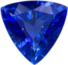 Pure Deep Blue Sapphire Genuine Gem in Trillion Cut, 6.9 mm, 1.2 Carats