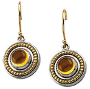 Sterling Silver & 14KT Yellow Gold Citrine Earrings