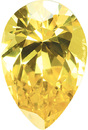 Loose Quality Faceted Yellow Cubic Zirconia Gem in Pear Shape Gemstone Sized 5.00 x 3.00 mm