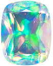 Grade GEM CHATHAM CREATED FACETED WHITE OPAL antique cushion Cut Gems  - Calibrated