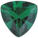 Imitation Emerald Trillion Cut Gems