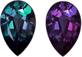 Fine Rare Pear Shaped Alexandrite Loose Gem Stone in Rich Teal to Rich Eggplant, 7.5 x 4.8 mm, 0.69 carats