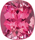 Vibrant Pink Spinel Natural Vietnamese Gemstone in Cushion Cut, 7.2 x 6.3 mm, 1.45 Carats