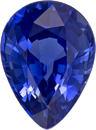 Deep Blue Sapphire Genuine Gem in Pear Cut, 7 x 5.1 mm, 0.99 Carats - SOLD