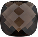 Grade AAA - Double Sided Checkerboard Antique Square Smokey Quartz 14.00 mm