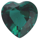 Imitation Emerald Heart Cut Gems