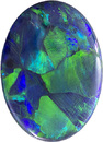 Natural Killer Black Opal Gem with Intense Flashes of Vibrant Color, 14.9 x 10.7 mm, 3.27 carats