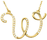 14 KT Yellow Gold Letter
