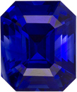 Rich Blue Sapphire Natural Mmadagacar Gemstone in Emerald Cut, 6.2 x 5.2 mm, 1.31 Carats