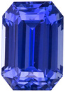 Rare No Heat Emerald Cut Blue Sapphire Loose Gem Stone in a Rich Pure Blue Color, 8.8 x 6.1 mm, 3.19 carats - GIC Certified