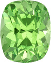 Neon Mint Green Garnet Loose Tanzania Gem in Cushion Cut, 6.4 x 5.2 mm, 1.18 Carats