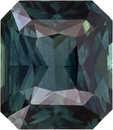 Teal Sapphire in Radiant Cut Loose Gemstone, Rich Teal Green Color in 7.0 x 6.0 mm, 1.86 Carats - SOLD