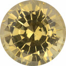 Fine  Untreated Sapphire Loose Gem in Round Cut, Light Yellow, 8.45 mm, 3.09 Carats
