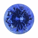 Exceptional Loose Blue Sapphire Gem in Round Cut, Violetish Blue, 6.06 mm, 1.1 carats