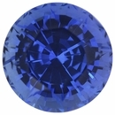 Exceptional Loose Blue Sapphire Gem in Round Cut, Slight Violet Hint, Rich Blue, 7.03 mm, 1.76 carats