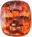 Rare and Unusual - Orange Sapphire Gemstone from Ceylon- with AGL Cert, Cushion Cut, 2.56 carats - SOLD