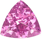 Blazing Bright Icy Pink Spinel Gem - Super Lively! Trillion Cut, 2.16 carats