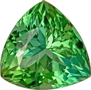 Incredible Minty Bright Green Tourmaline Gemstone for SALE - Super Lively, A Real Find, Trillion Cut, 4.2 carats