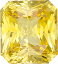 Stunning 10.67 carats Yellow Sapphire Unheated Radiant Cut Gem, GIA Cert. in Radiant Cut in Huge 12.62 x 11.39 x 7.58 mm