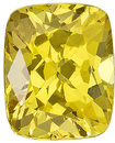 Lively Yellow Unheated Sapphire for SALE! Great Faceted Stone with AGL Certificate from Madagascar, Cushion Cut, 0.98 carats