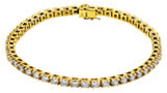 14KT Yellow Gold 4 1/2 CTW Diamond Line 7.25