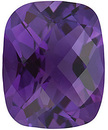 Amethyst Genuine Quality Loose Faceted in Checkerboard Antique Cushion Shape  Grade AA 1.26 carats, 8.00 x 6.00 mm in Size