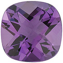 Loose Calibrated Natural Size Amethyst Gemstone in Antique Square Checkerboard Shape, Grade AA, 5.00 mm in Size, 0.5 carats