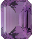 Loose Calibrated Natural Size Amethyst Gemstone in Emerald Shape, Grade A, 5.00 x 3.00 mm in Size, 0.28 carats