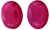 Unparalelled Pair of GRS Certified Unheated Ruby Cabochon Gemstones  Mozambique, Oval Cut, 10.4 x 8.3 mm, 6.95 carats