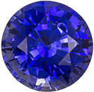 Desirable Faceted Genuine Blue Sapphire Gemstone. A True Beauty, Round Cut, 1.66 carats