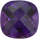 Discount Amethyst Gemstone, Chekerboard Antique Square Shape, Grade AAA, 5.00 mm Size, 0.5 carats