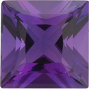 Faceted Amethyst Gemstone, Princess Shape, Grade AAA, 3.50 mm Size, 0.22 carats
