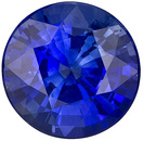 Lively and Bright Faceted Blue Sapphire for SALE in 7mm Round Cut, 1.69 carats