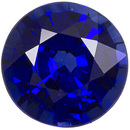 Lively Sapphire Loose Gem in Round Cut, Vivid Blue, 5.5 mm, 0.83 carats