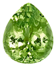 Nice Proportions! Scintillating Green Grossular Garnet Unheated Gem, Pear Shape, 10.3 x 8.6 mm, 3.64 carats