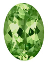 Open and Lively Green Grossular Garnet Gemstone, Oval Cut, 9.8 x 7.1 mm, 2.50 carats