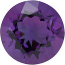 Round Shape Genuine Amethyst Loose  Gemstone   Grade AA 1.2 carats,  7.00 mm in Size