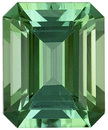 Spectacular Color in Minty Blue Green Tourmaline Genuine Afghanistan Gemstone - Excellent Proportions & Outline, Emerald Cut, 8.3 x 6.7 mm, 2.12 carats