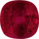 Stunning Loose Ruby Gem in Antique Square Cut, Deep  Red Color, 6.43 x 6.42 mm, 1.27 carats