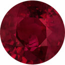 Unbelievable Loose Ruby Gem in Round Cut, Deep  Red Color, 6.15 mm, 1.16 carats