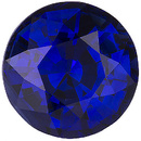 Wonderful Rich Deep Blue Color in this Beautiful 7mm Sapphire Natural Gemstone, Round Cut, 2.02 carats