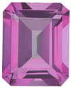 Imitation Pink Tourmaline Emerald Cut Gems