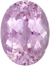 Bright and Beautiful Pink Kunzite Genuine Gemstone for SALE! Large Size! Oval cut, 22.58 carats