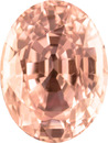Beautiful TGL Certified Baby Peachy Pink Sapphire Loose No Heat Gem in Oval Cut in 9.7 x 7.7 mm, 3.48 carats