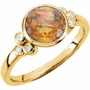 Citrine & Diamond Accented Ring