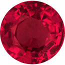 Top Quality Round Cut Loose Ruby Gem,  Red Color, 5.97 mm, 1.03 carats