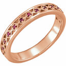 14KT Rose Gold 1.3 mm Ruby Stackable Ring