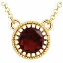 14KT Yellow Gold Garnet