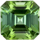 Crystal Like Minty Green Tourmaline Loose Gemstone in Unique Asscher Cut in 8.1 mm, 2.95 carats