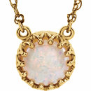 14KT Yellow Gold 10mm Round Opal 18